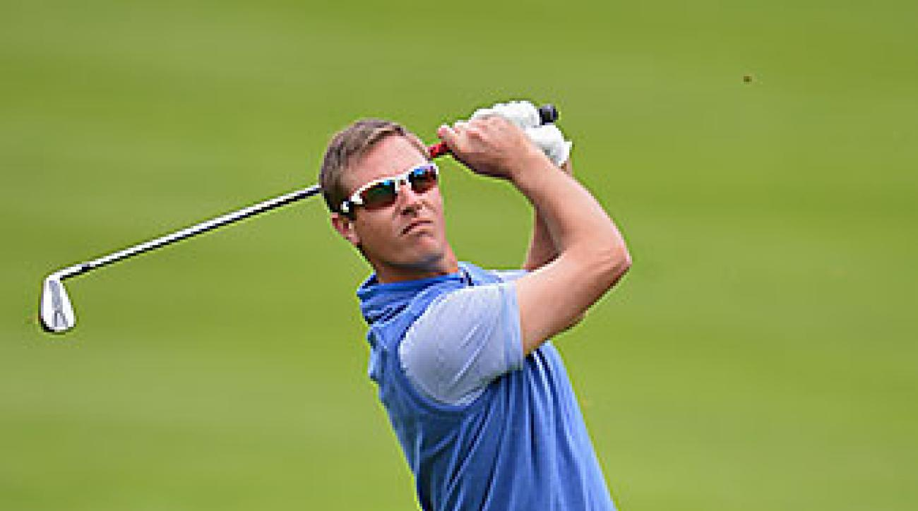 Nicolas Colsaerts (pictured) and Gonzalo Fernandez-Castano won 5 and 3 against Scottish pair Scott Jamieson and Marc Warren.