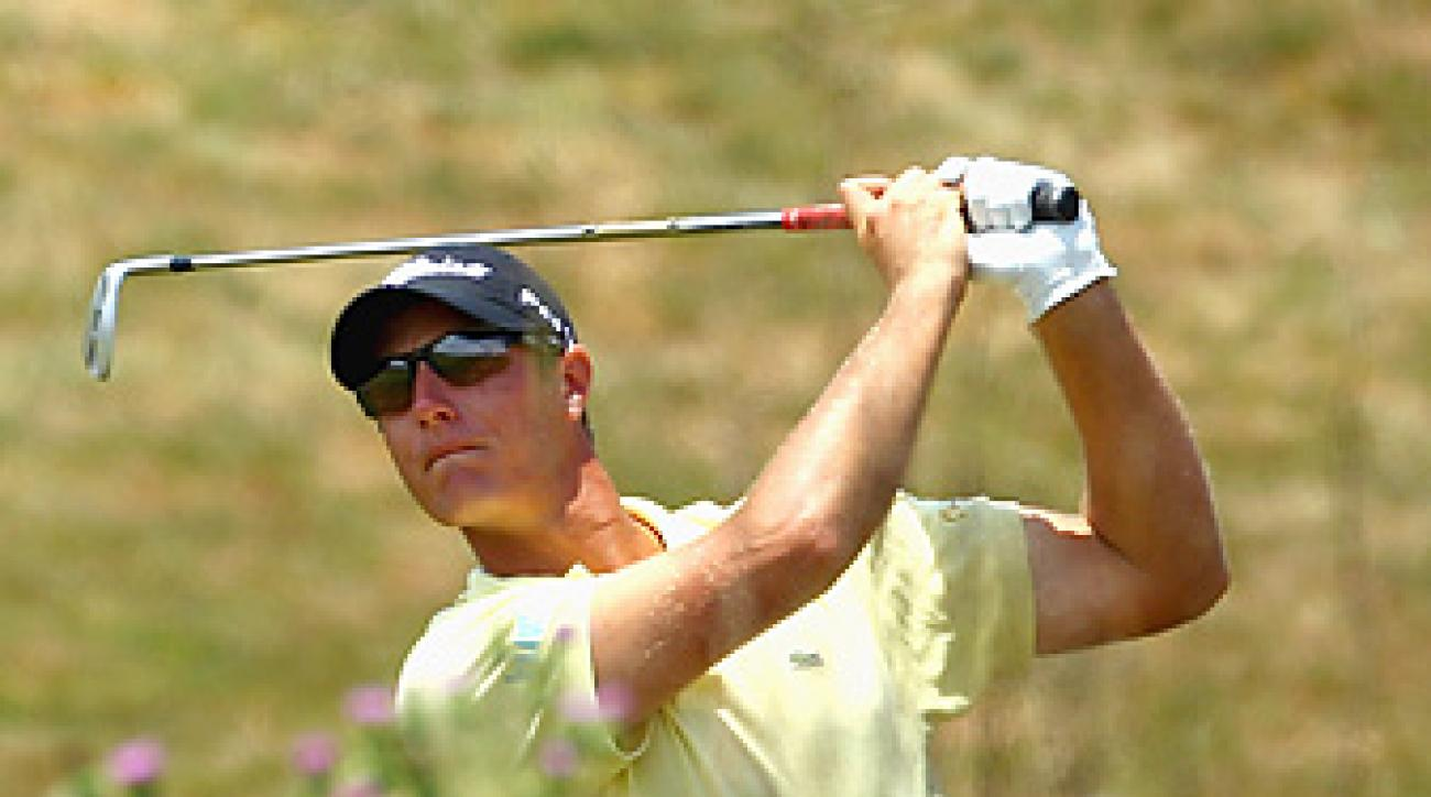 Nicolas Colsaerts has a four-shot lead at the Volvo after a course-record 64.