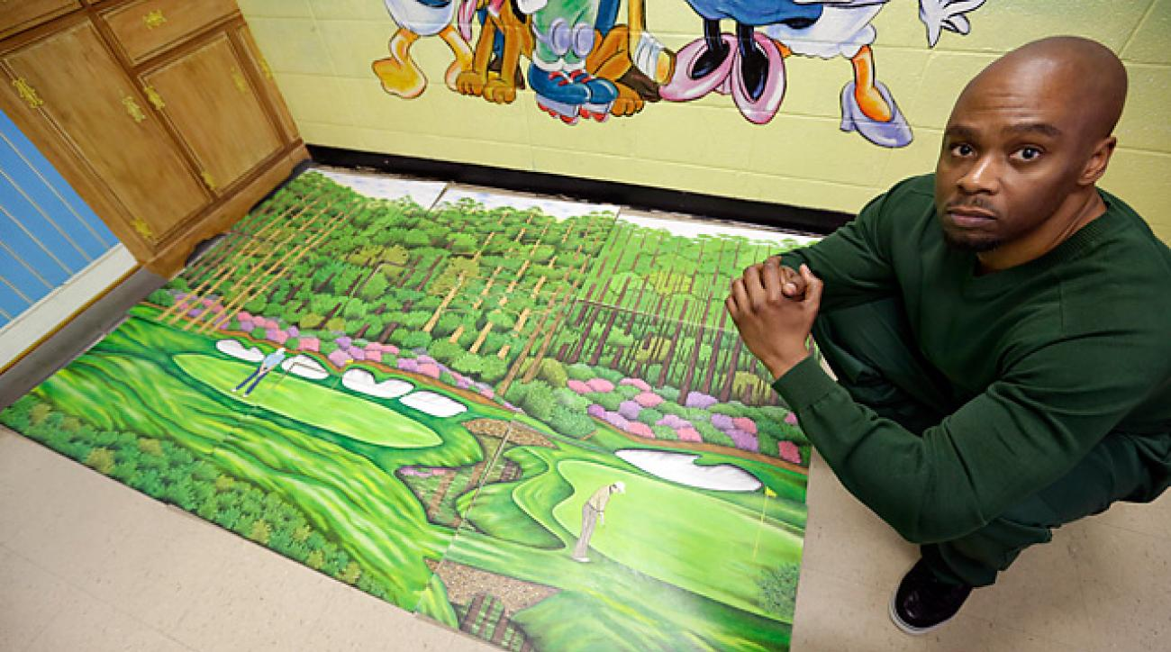 Valentino Dixon spends 10 to 12 hours a day illustrating golf courses -- even though he's never set foot on one.