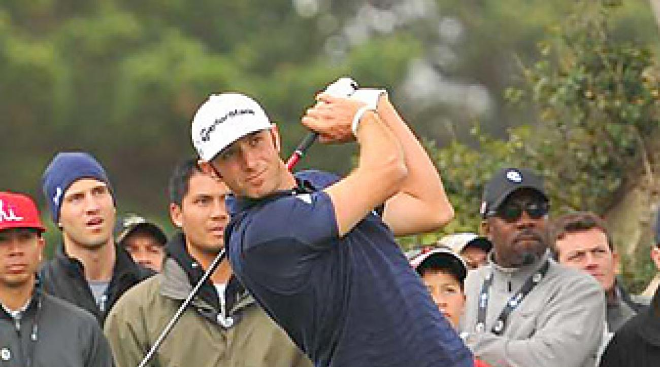 Dustin Johnson tied for fifth at Pebble Beach.