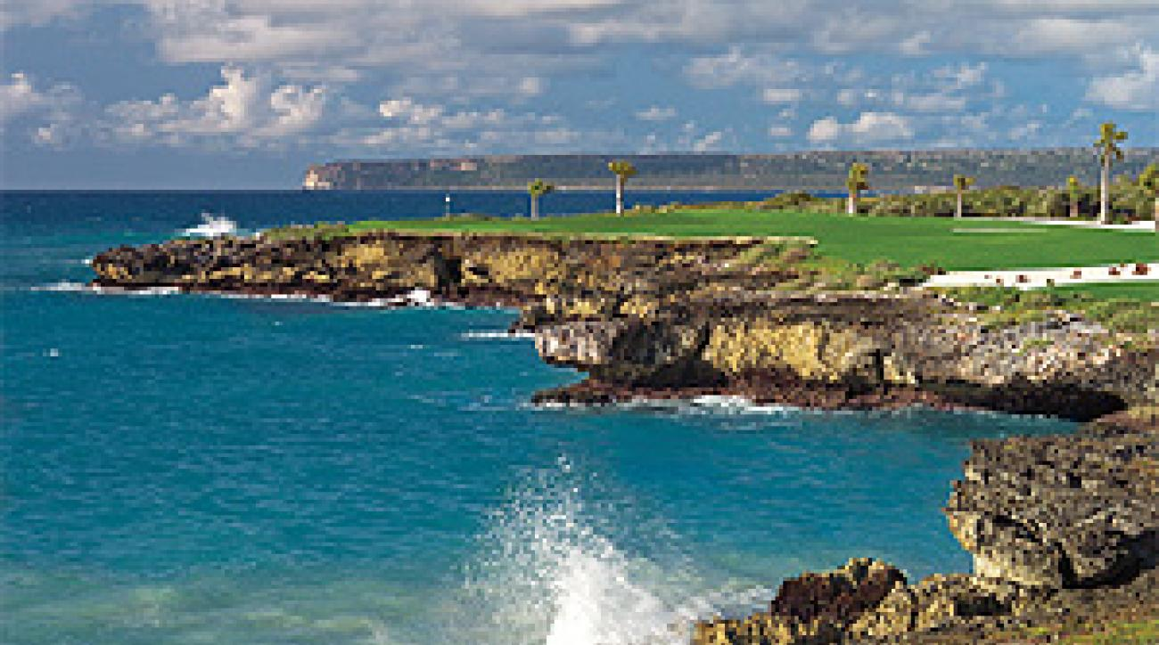 Surf's up at the 13th hole at Punta Espada.