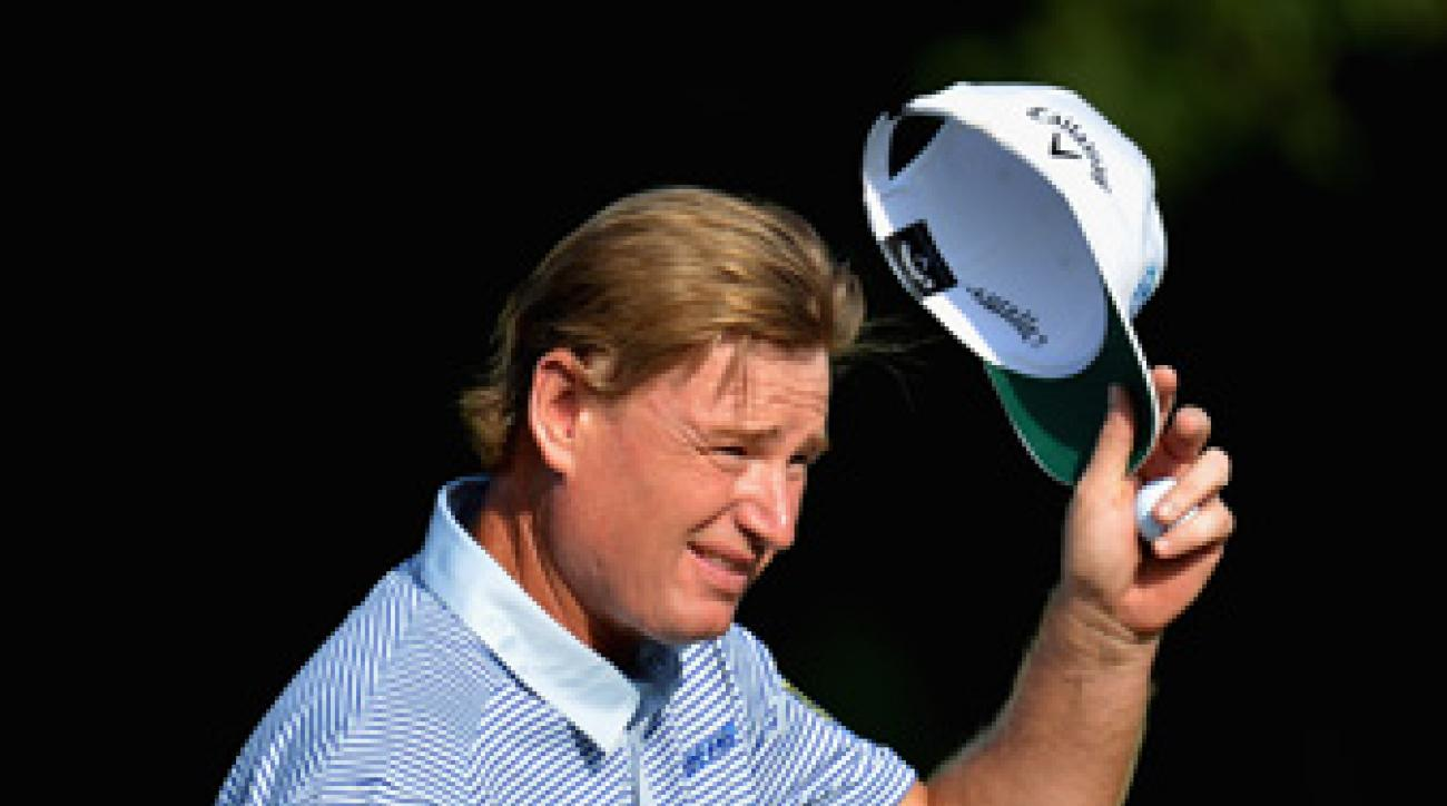 Ernie Els finished ninth at the U.S. Open.