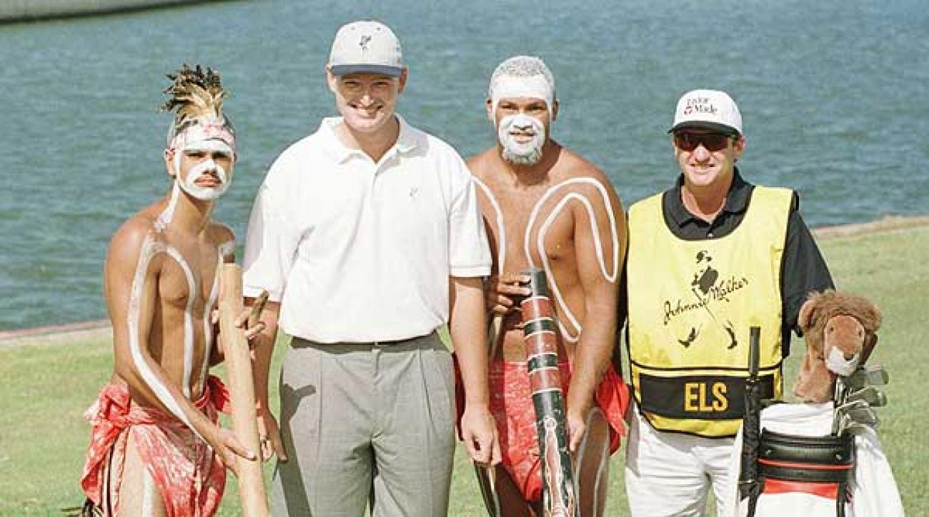Els was a hit with the locals in Queensland, Australia in 1997.