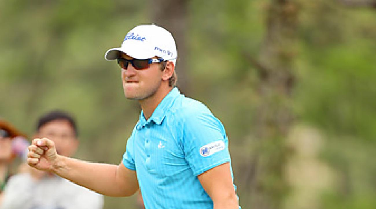 Bernd Wiesberger won the Ballantine's Championship by five strokes for his first Euro Tour victory.