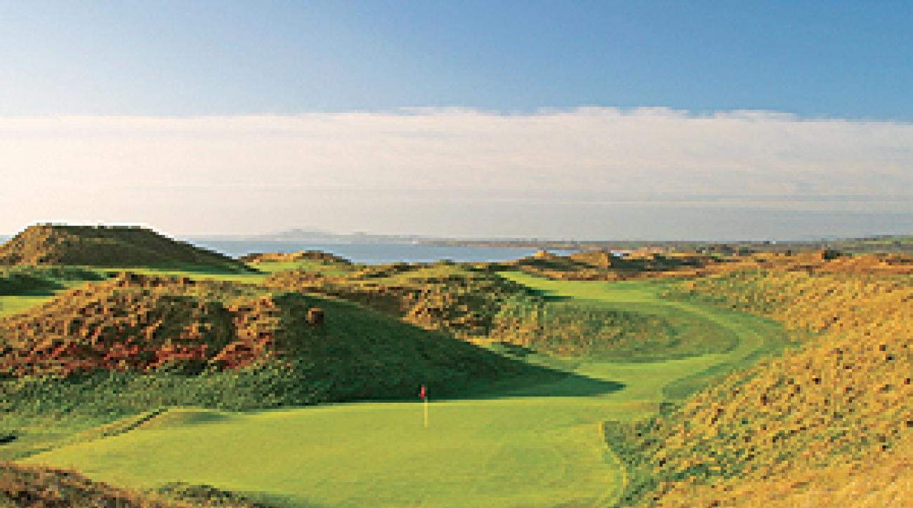 The eighth hole at the European Club in Ireland