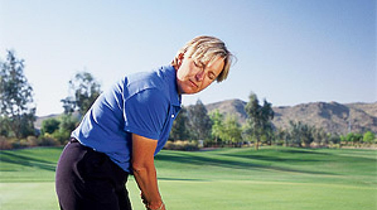 Can you feel it? Putt with your eyes closed to master the art of distance control.
