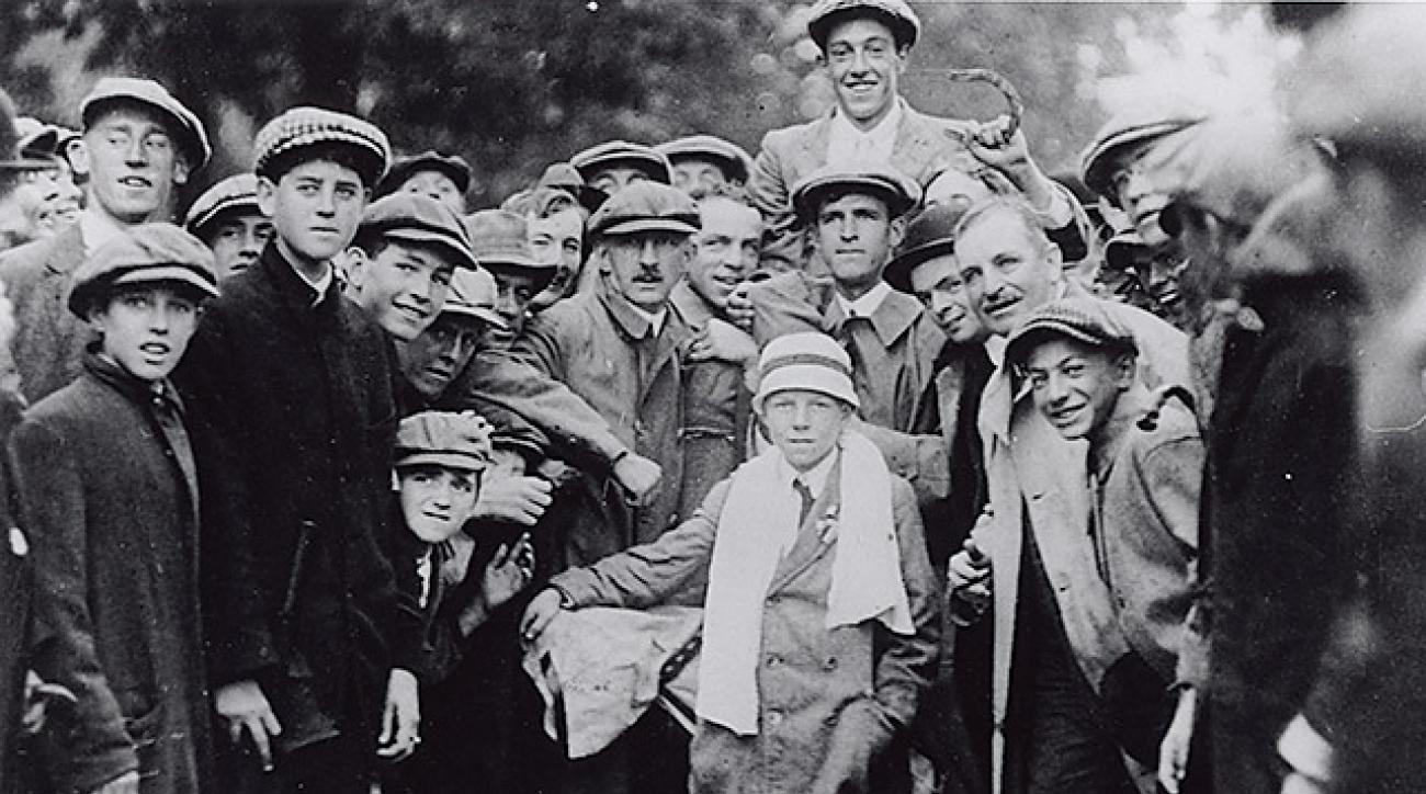 Ouimet was almost cropped out of the famed photo; Lowery posed front and center.