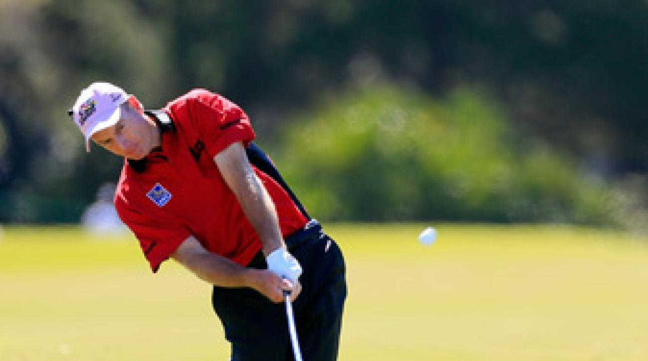 Jim Furyk had the lead late in the final round at Olympic before fading over the final three holes.