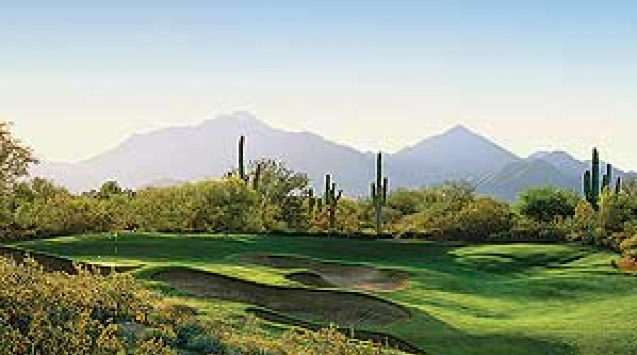 The eighth hole at Grayhawk's Raptor course.