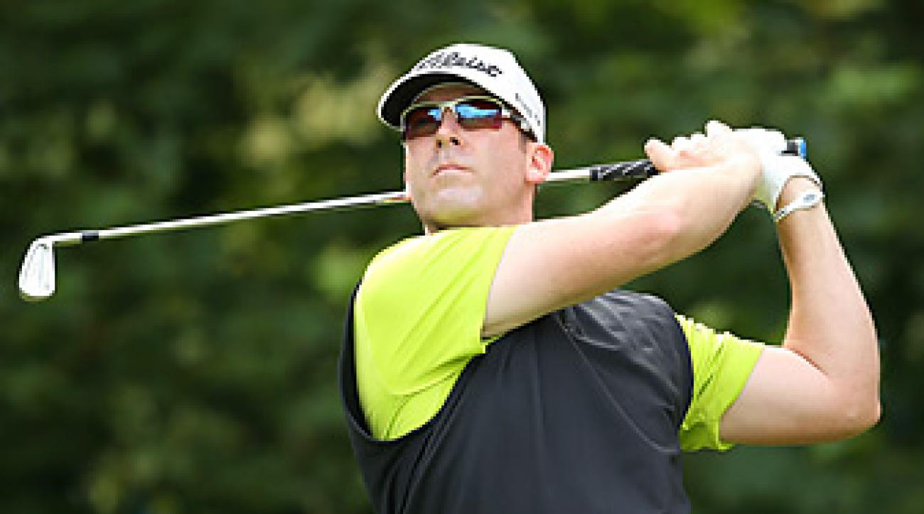 Justin Hicks shot a 68 in the final group of the opening round.