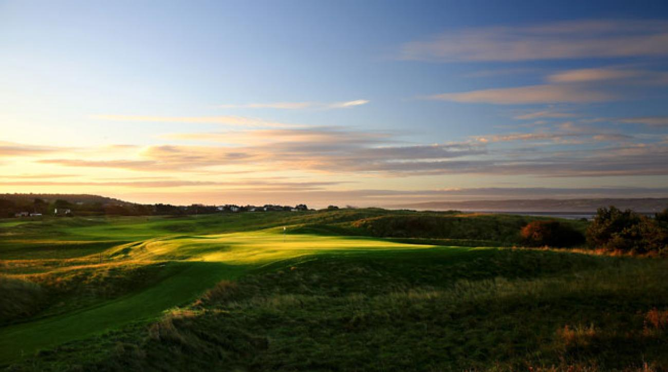 The par-4 12th seems inviting in the golden light -- until the rough swallows your dreams of a Claret jug.