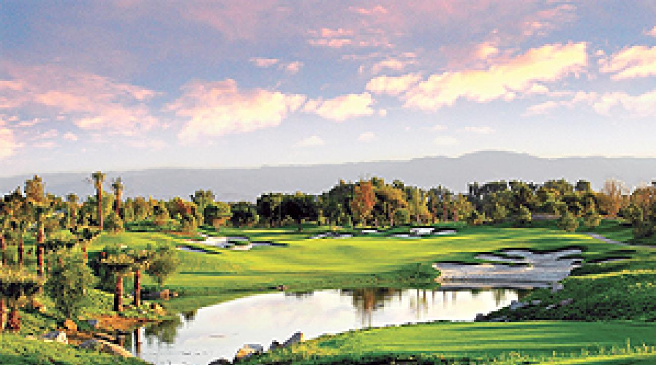 Show stopper: No. 15 at Indian Wells' Celebrity Course.