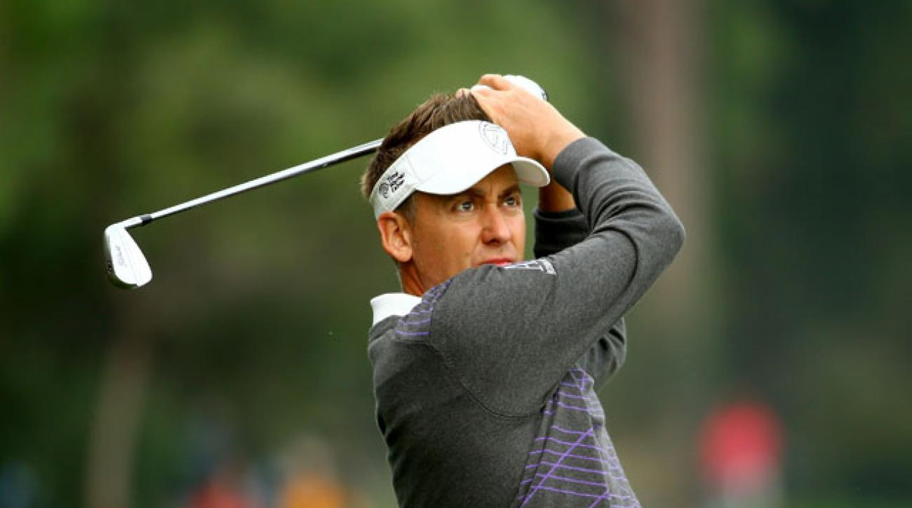 Ian Poulter has a three-shot lead at the Turkish Airlines Open.