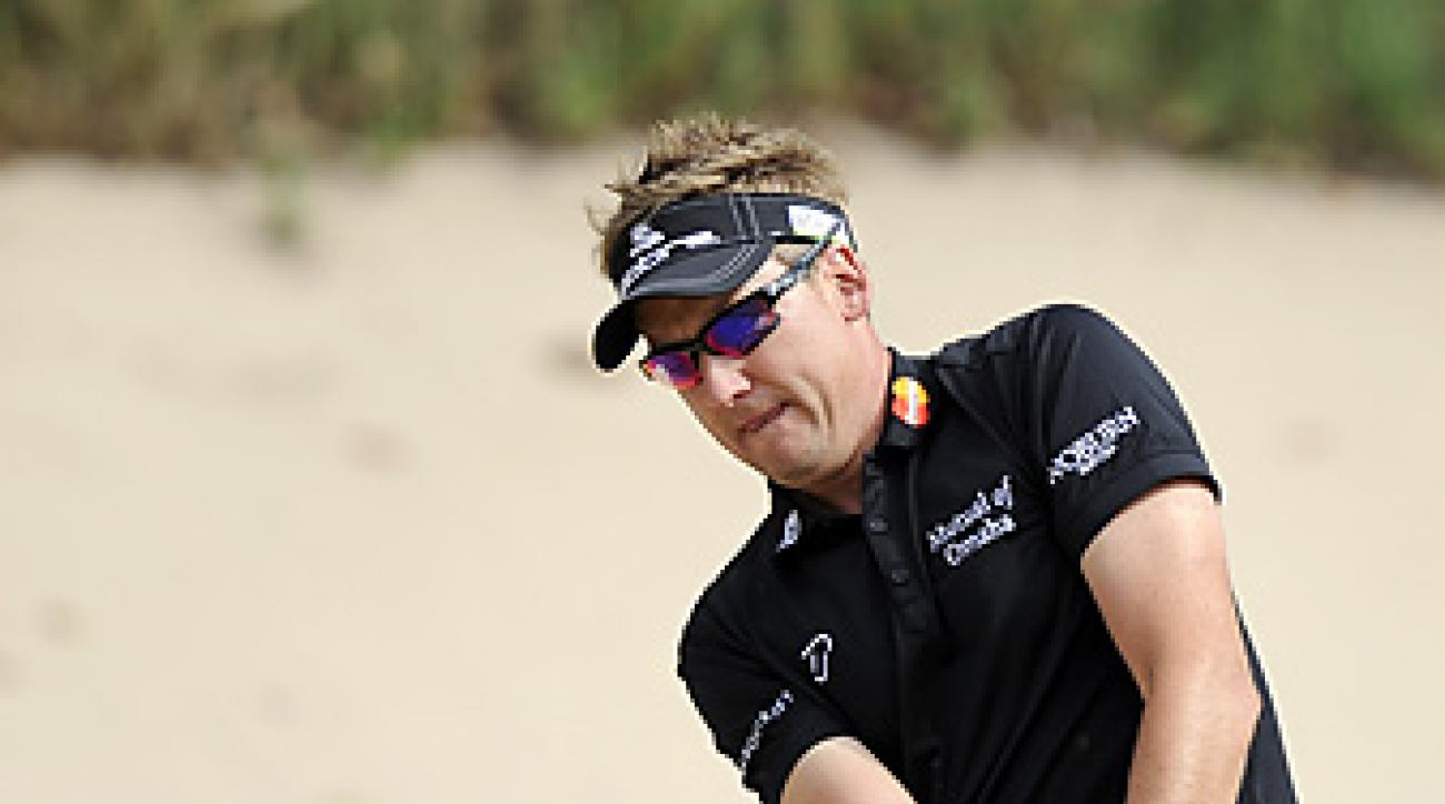 Ian Poulter shot a Sunday 67 to win the Australian Masters.