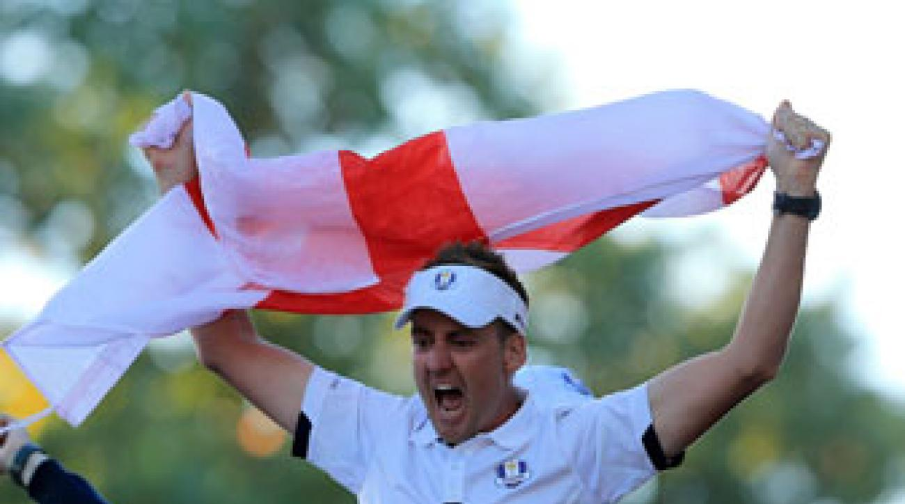 Ian Poulter has a 12-3 career record at the Ryder Cup.