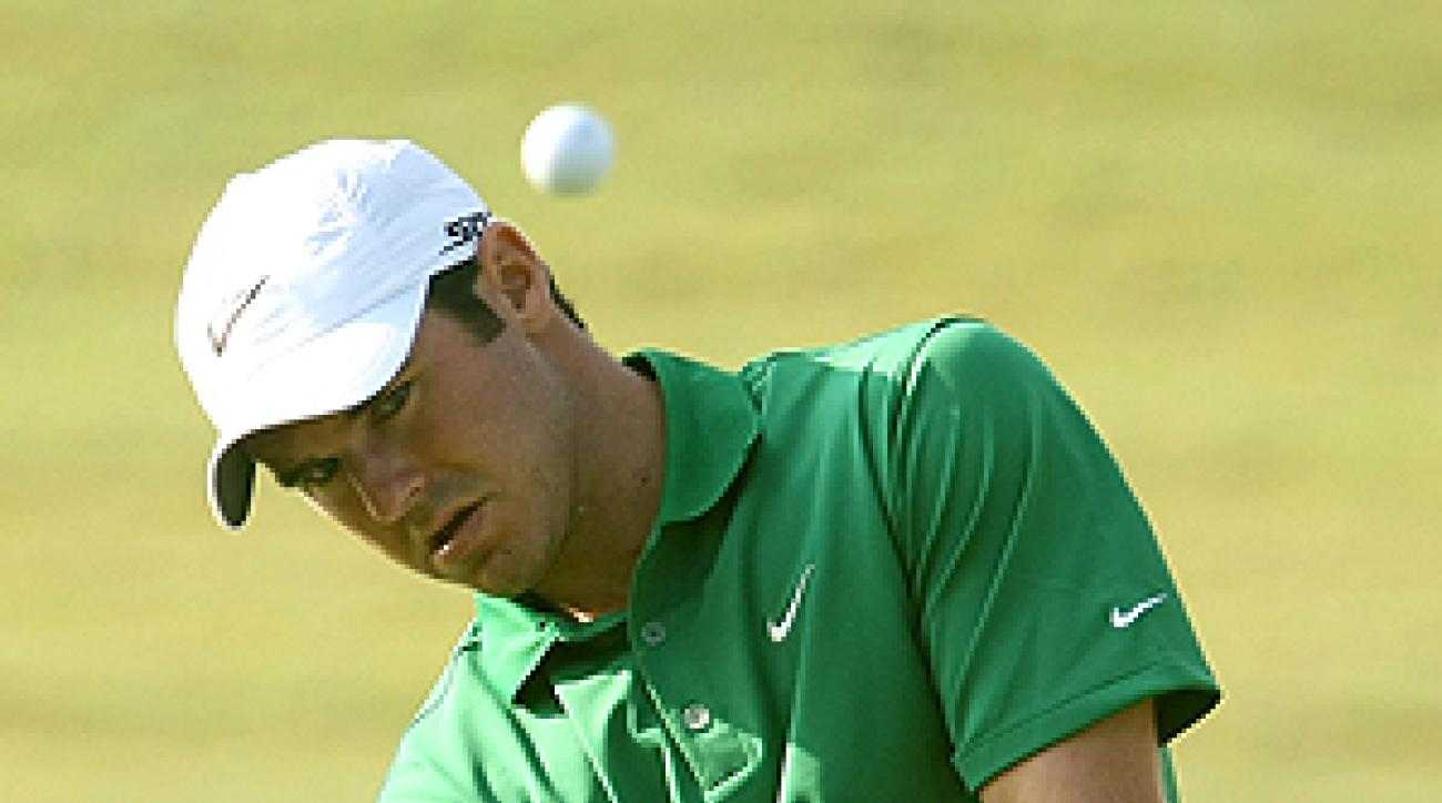 Immelman appeared focused while practicing Wednesday at TPC Sawgrass.
