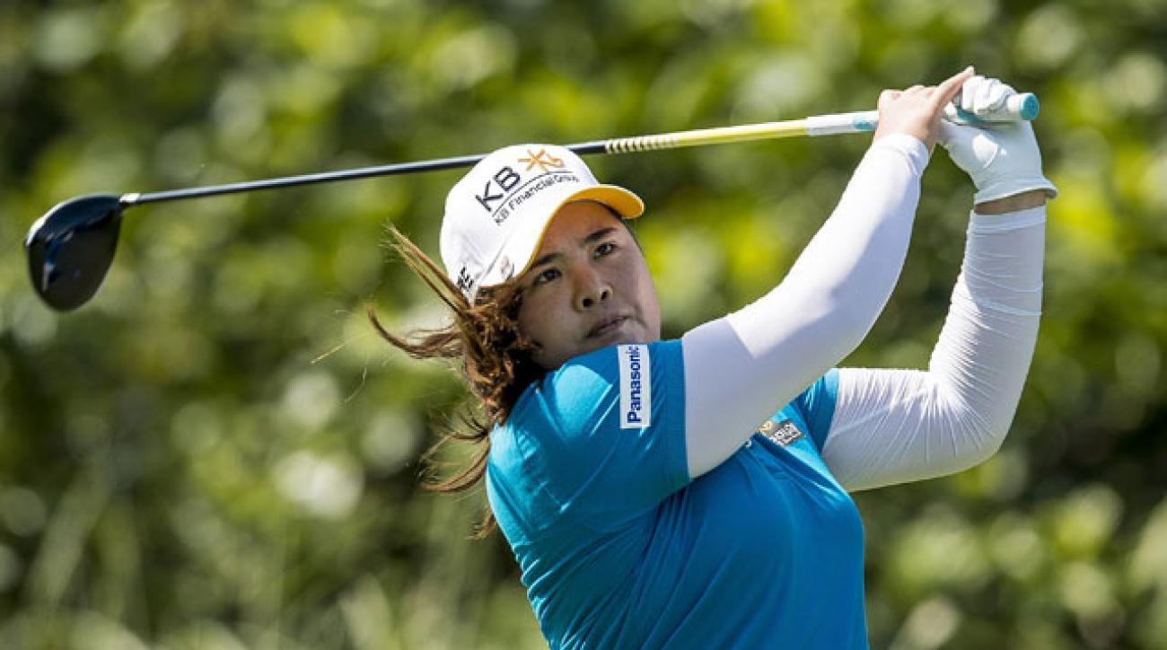 Inbee Park leads the Taiwan Championship by three shots.