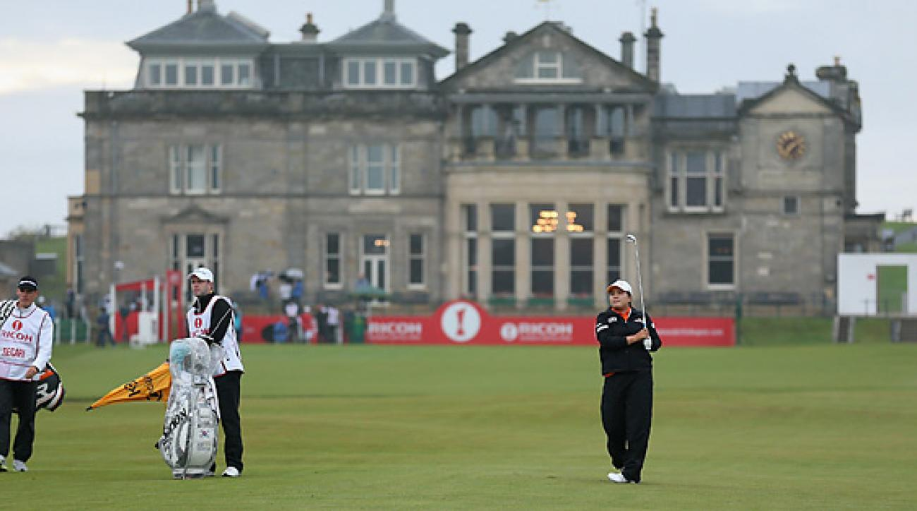 Inbee Park shot a three-under 69 in her opening round at St. Andrews.