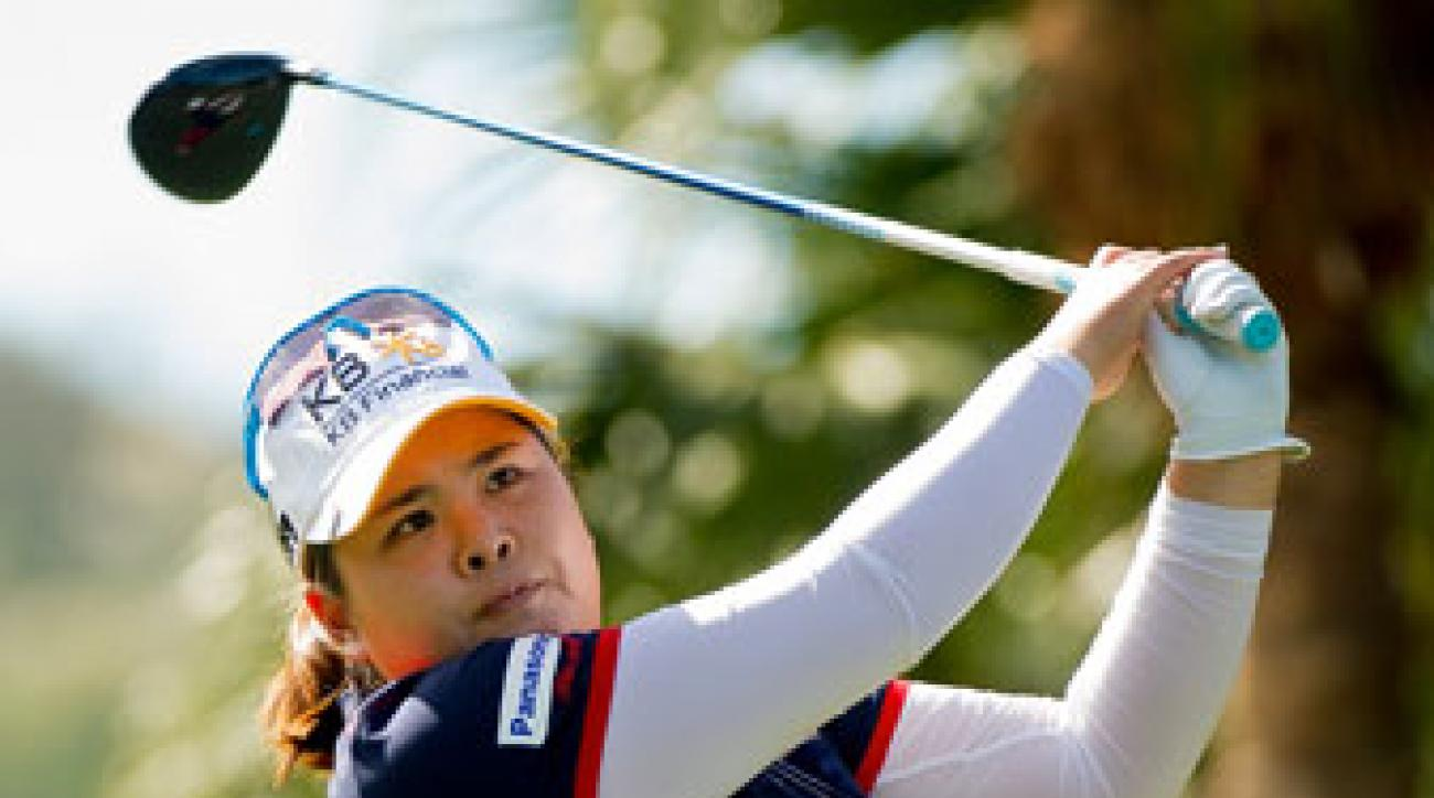Inbee Park hits a shot in December during the Swinging Skirts World Ladies Masters at Miramar Golf & Country Club in Taiwan.