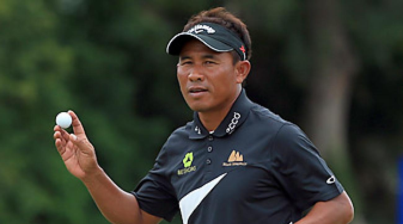Thongchai Jaidee shot a 65 in Round 1 at the Volvo Champions.