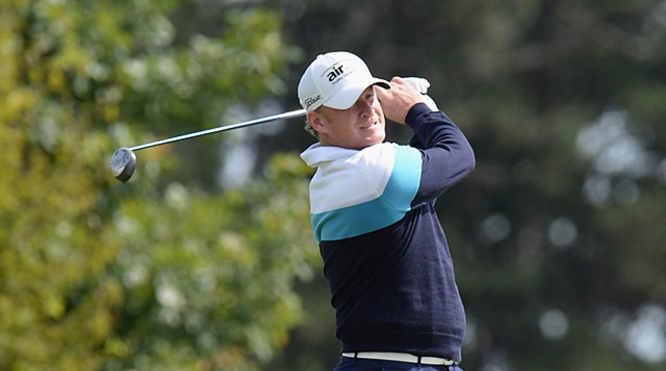 Jamie Donaldson's first-round 66 was good enough for the lead.