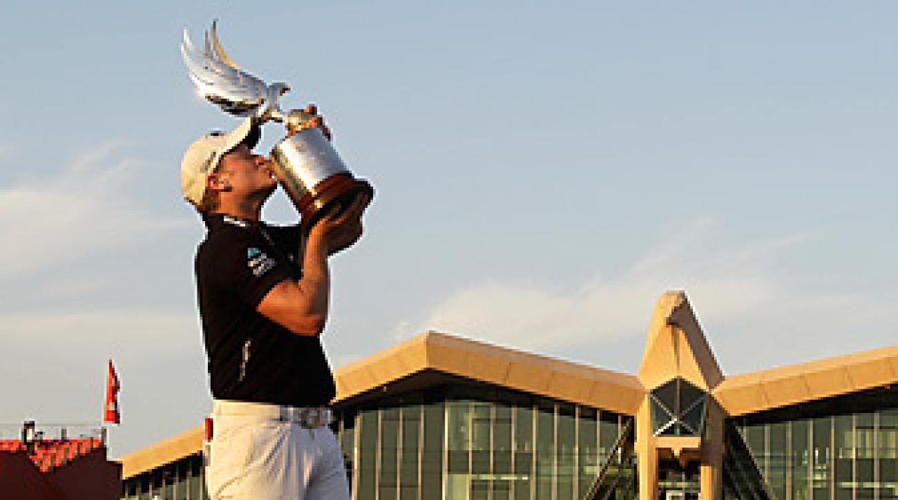 Jamie Donaldson won his second career title at the Abu Dhabi Championship.