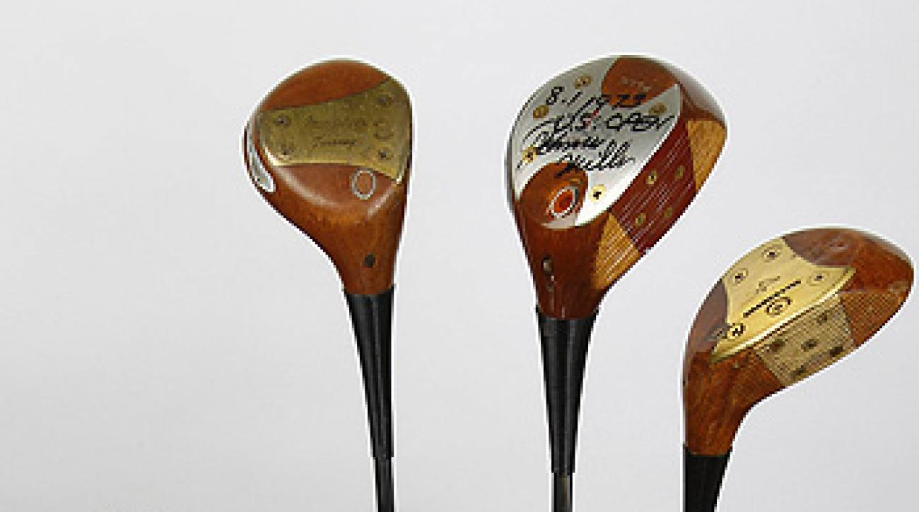 "Johnny Miller's 1973 golf bag. <strong><a href=""http://www.golf.com/photos/johnny-miller-1973-us-open-golf-equipment-macgregor-wilson/johnny-miller-driver"">See Close-Up Photos</a></strong>"