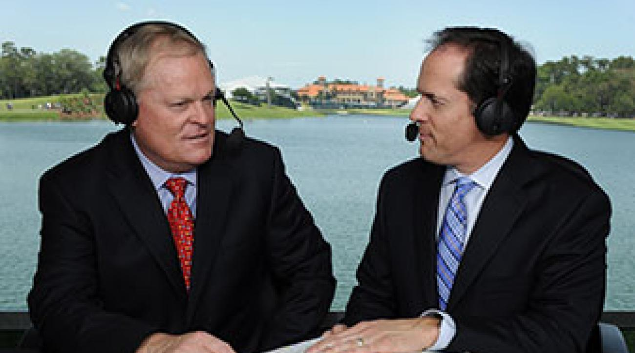 Johnny Miller and Dan Hicks at TPC Sawgrass for the 2010 Players Championship.