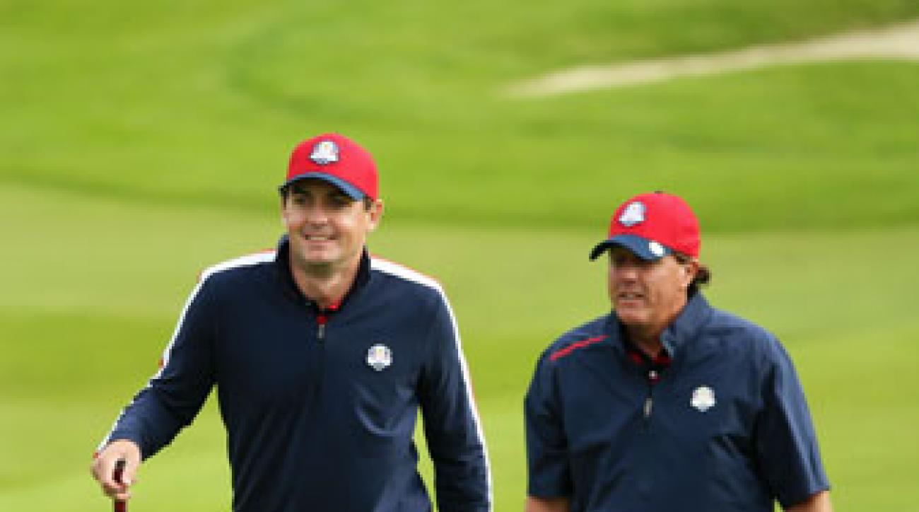 Keegan Bradley and Phil Mickelson will reprise their roles as teammates in the opening session of the 2014 Ryder Cup.