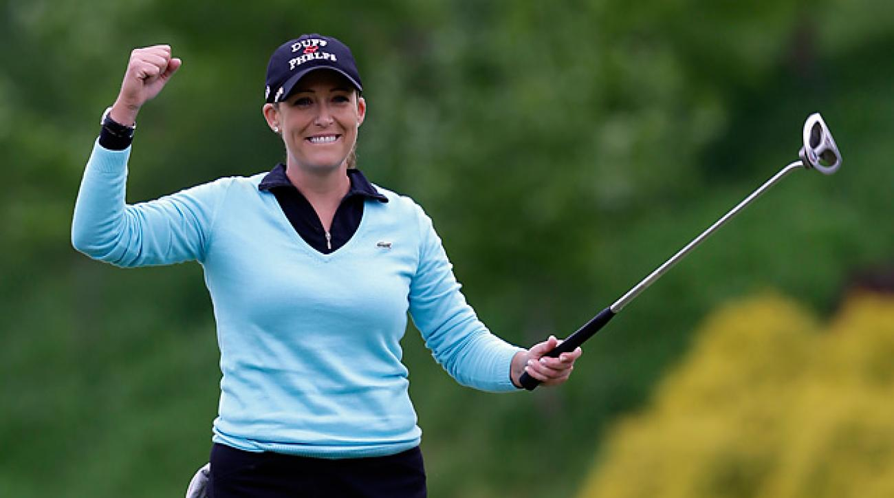 Cristie Kerr took out Suzann Pettersen on the second hole of sudden death.