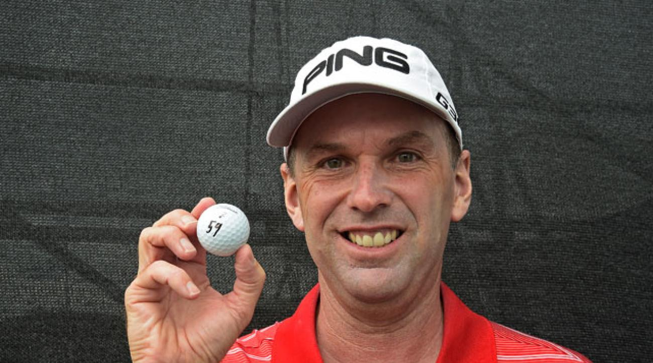 Kevin Sutherland shot the first 59 in Champions Tour history.