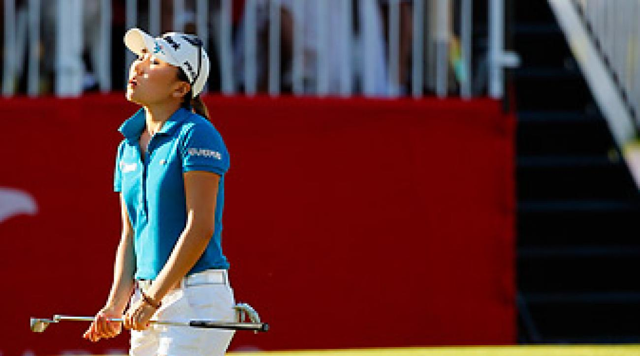 I.K. Kim missed a one-foot putt on the 72nd hole that would've won the Kraft Nabisco.