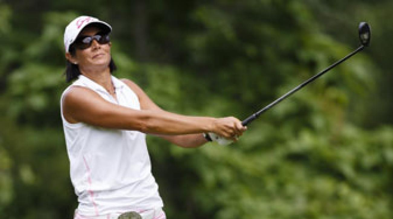 Laura Diaz plays the second round of the LPGA's Marathon Classic.