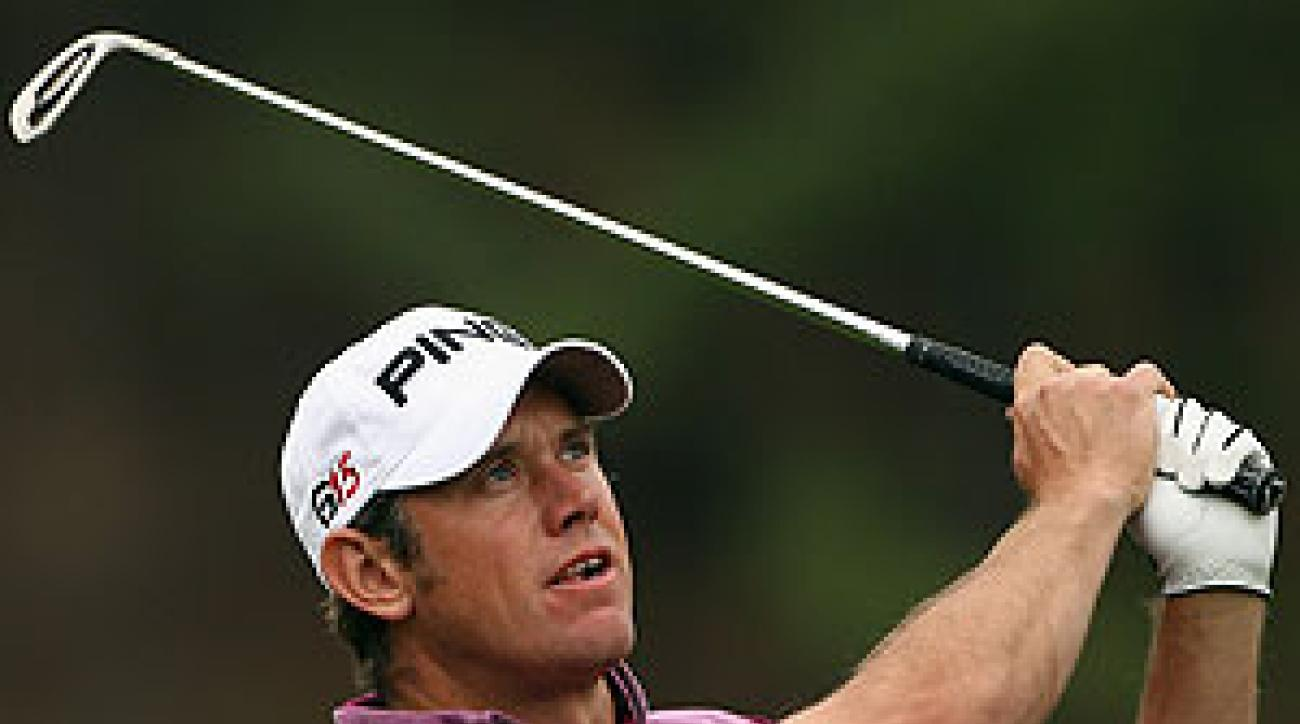 Lee Westwood, who regained the No. 1 ranking Monday, shot 68 in the second round.