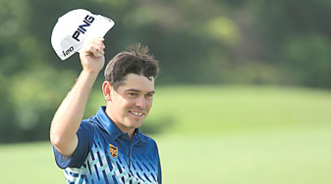 Louis Oosthuizen shot a final-round 66 to win his first event of 2013.