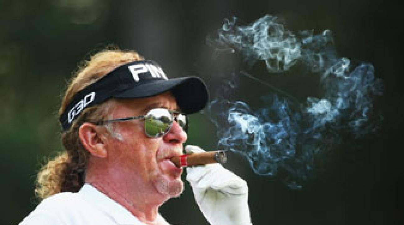 Miguel Angel Jimenez' lack of fluency in English could hurt his bid to be a Ryder Cup captain, says Sergio Garcia.