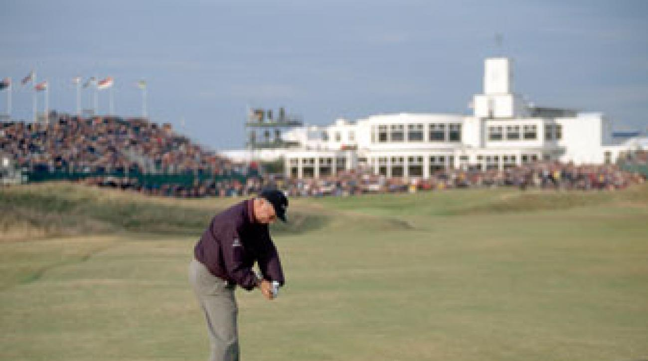 """Mark O'Meara in the """"slot"""" en route to his 1998 British Open victory."""