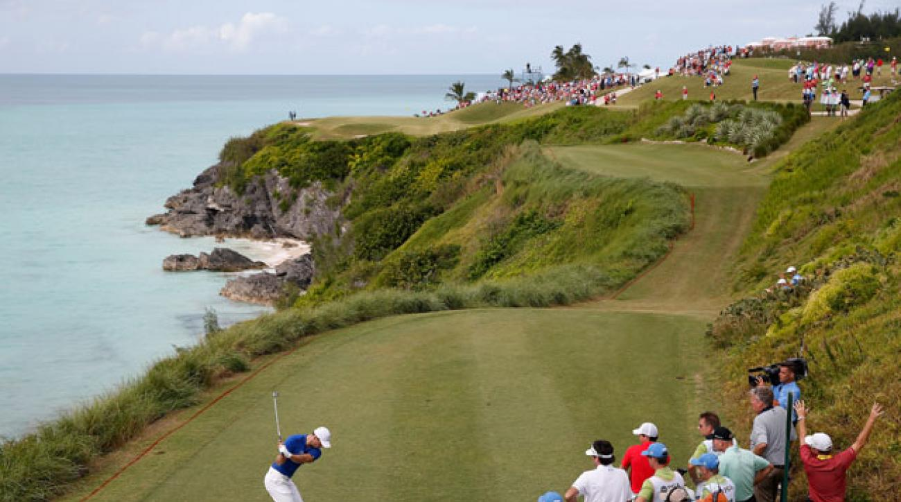 Martin Kaymer leads Bubba Watson and Rory McIlroy in Bermuda.