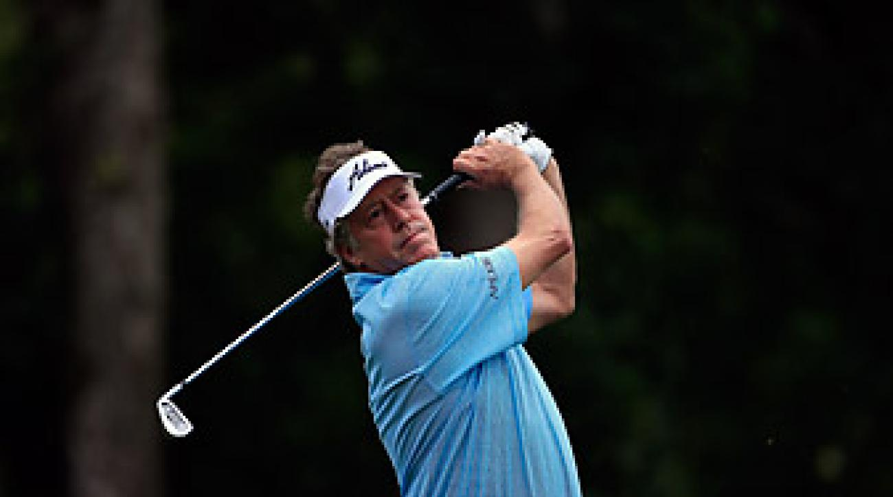 In the first round, Michael Allen (shown here at the 2013 SAS Championship) became the ninth player to shoot a 60 on the Champions Tour.