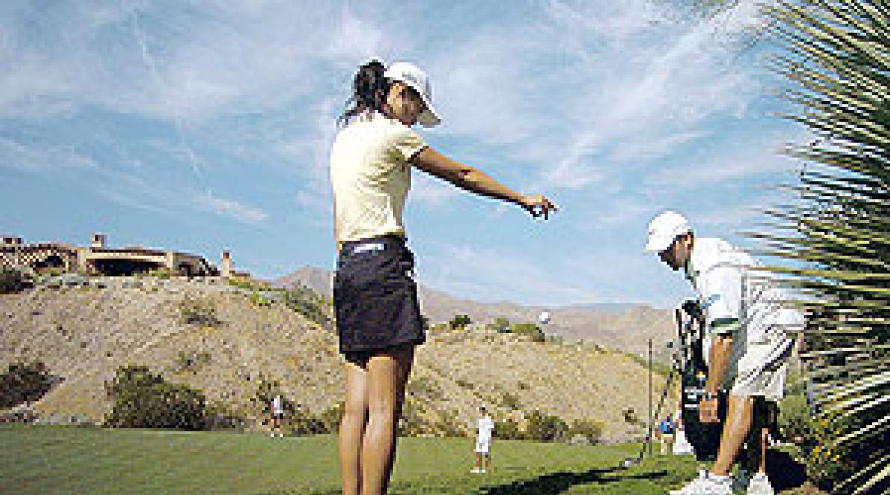 This drop got Michelle Wie disqualified from her first golf tournament as a professional.