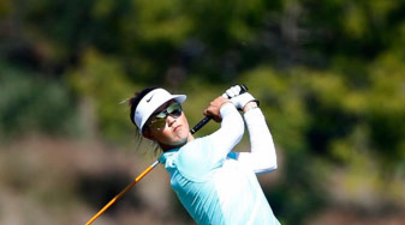 Michelle Wie is two shots behind the leaders in Naples.