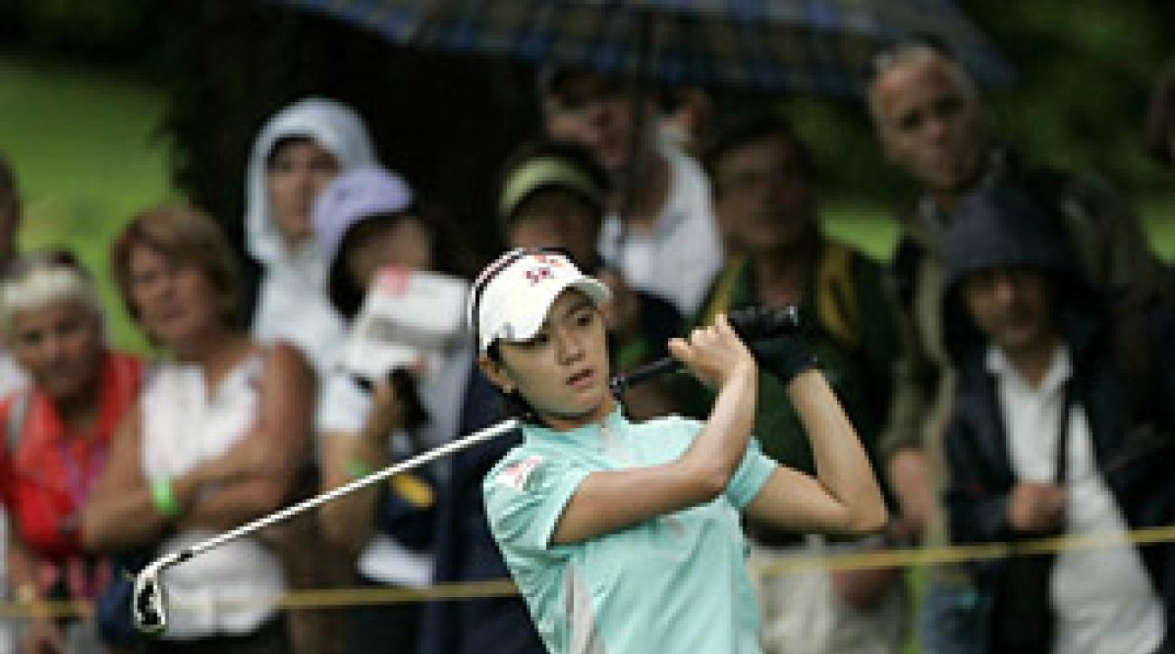 Na Yeon Choi is in a three-way tie for the lead
