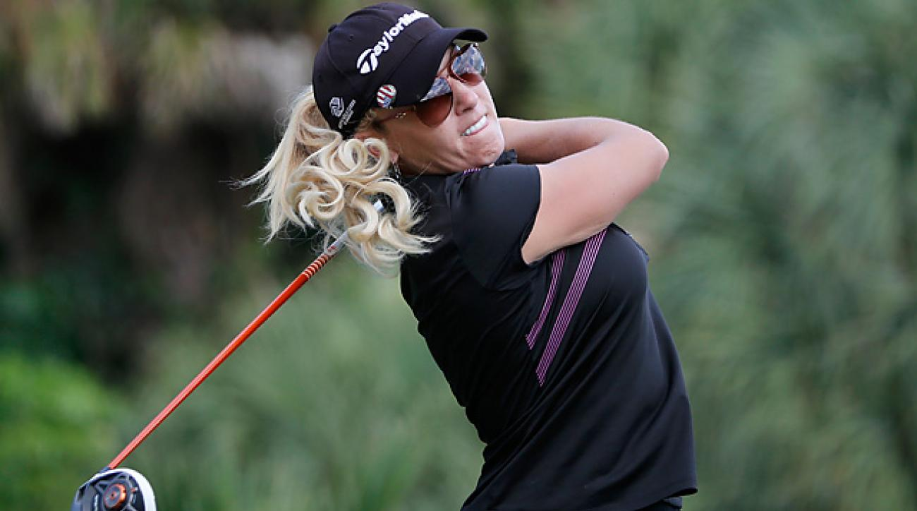 Natalie Gulbis shot a 65 to pull into a share of the lead heading into Sunday's final round.