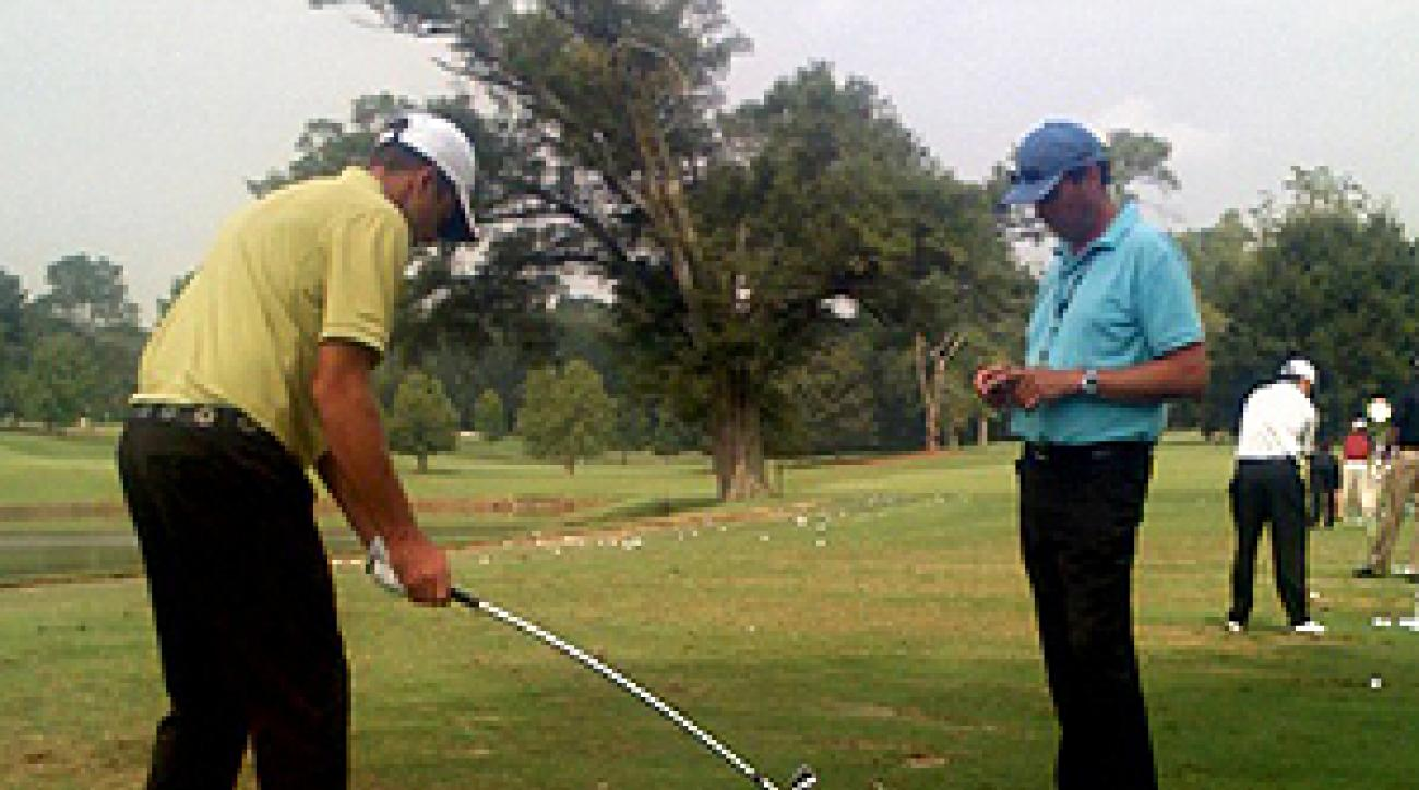 Players like U.S. Open champion Geoff Ogilvy try to accomplish something specific every time they practice.