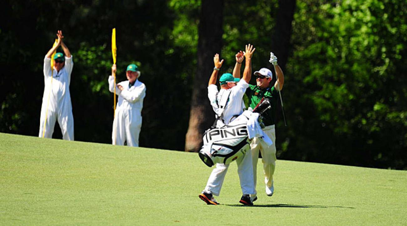 Louis Oosthuizen's albatross, one of the rarest shots in golf, was the first on No. 2 in Masters history.