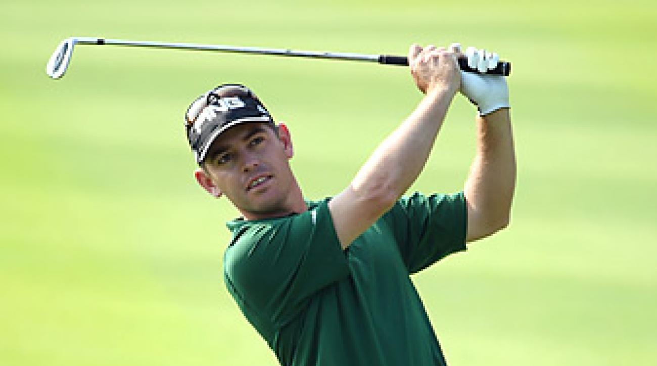 Louis Oosthuizen shot a 63 in the second to surge to a five-shot lead.