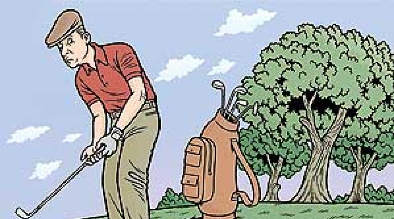 Putting on freshly-overseeded greens is tough for even the best players,