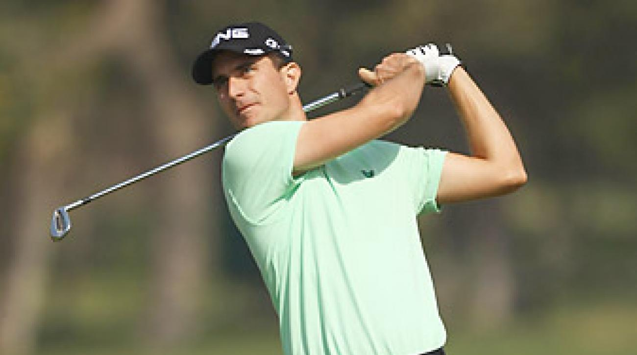 Alejandro Canizares shot a six-under 66 to share the lead in India.