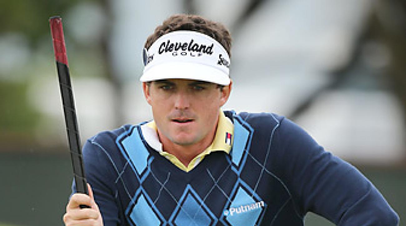Keegan Bradley won the Bridgestone after draining this 15-foot par-saving putt on the final hole.