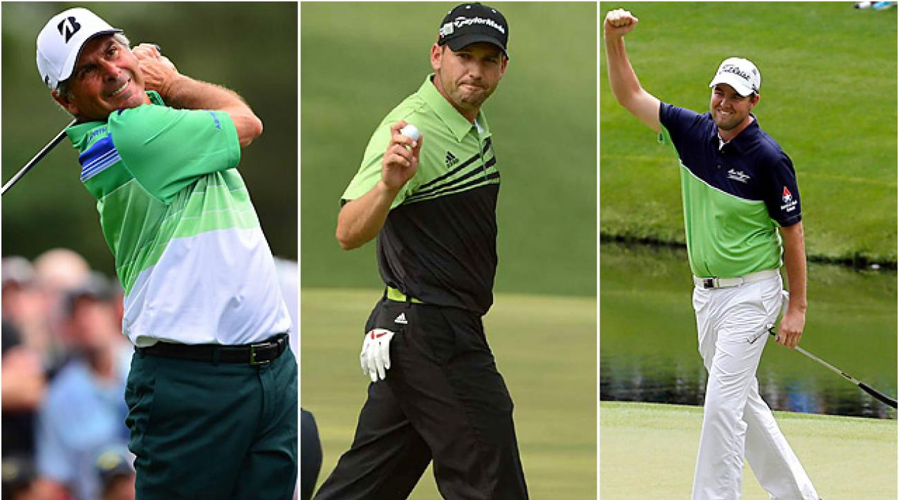 Fred Couples, Sergio Garcia and Marc Leishman all find themselves at or near the top of the leaderboard after round one at the Masters.
